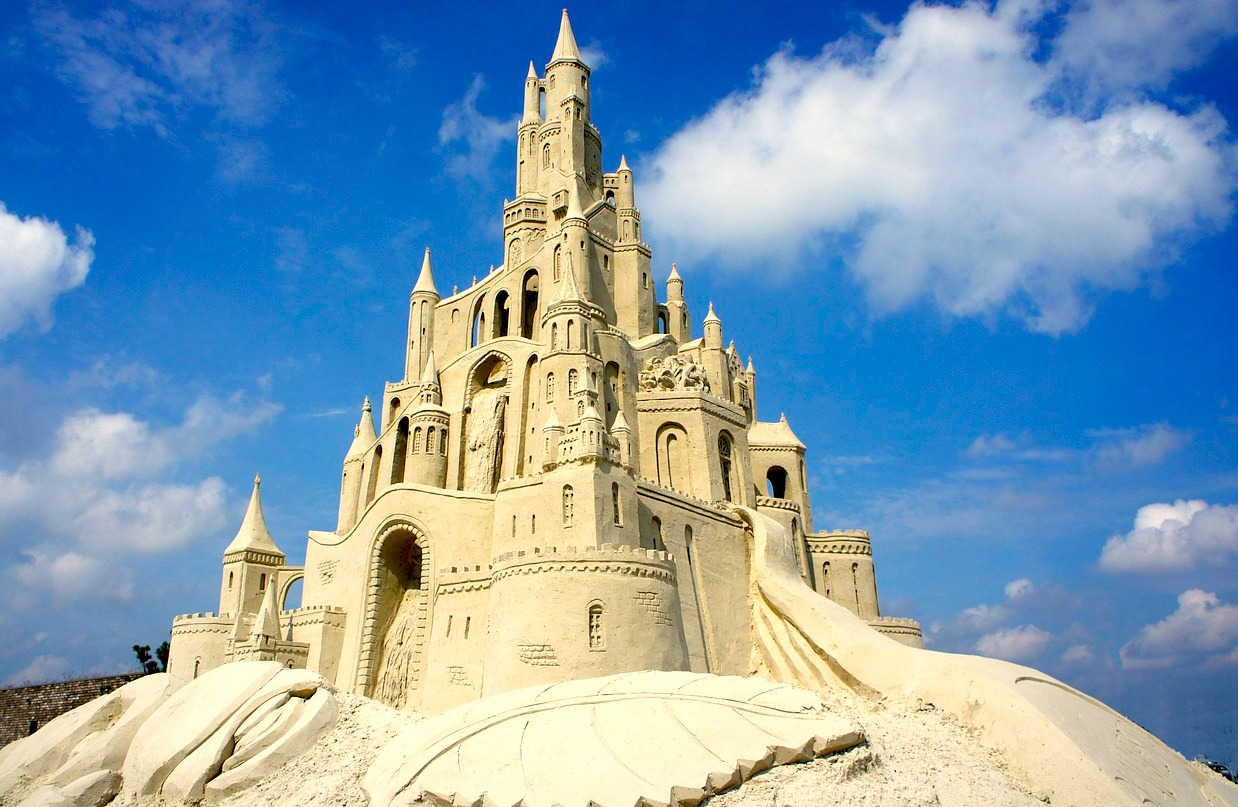 Like a sand castle, everything in life is temporary.