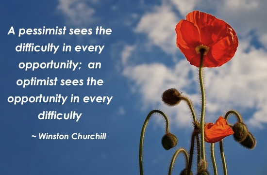 Being optimistic makes life easier