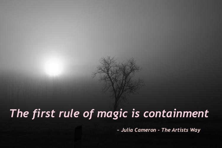 Creation is part magic part action...